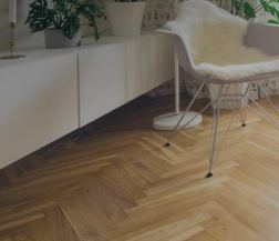 Herringbone Pattern Floor Is a Great Custom Look