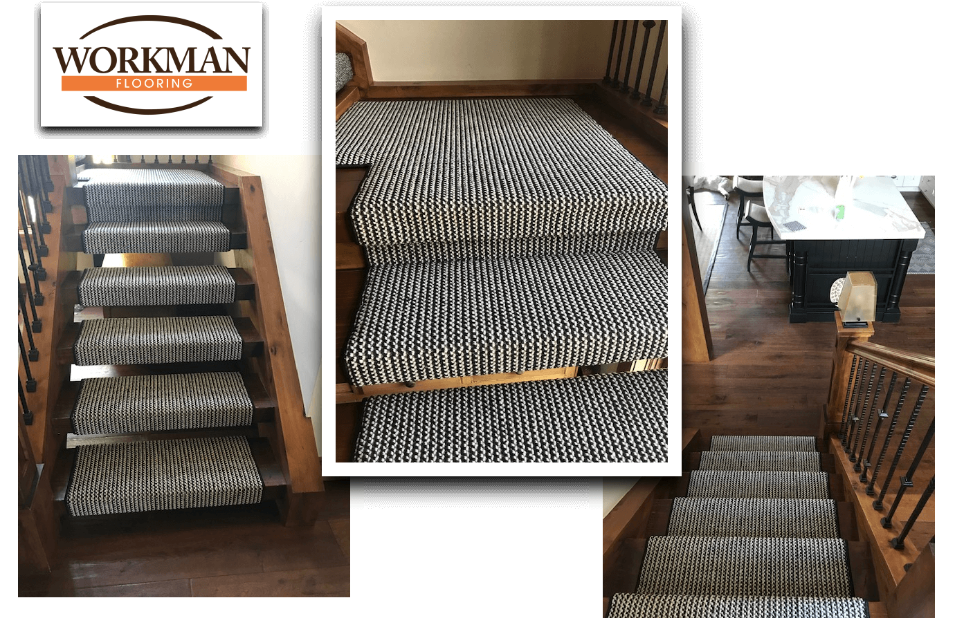 Workman Flooring Custom Carpeting Stairs